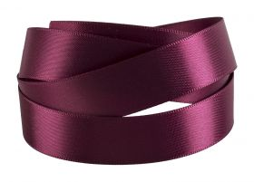 Reel Of Double-Faced Satin Ribbon  Purple