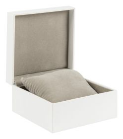 Deluxe Bangle Box | Hinged Jewellery Box  White