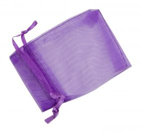 Small Organza Pouch | Ribbon Drawstring  Purple