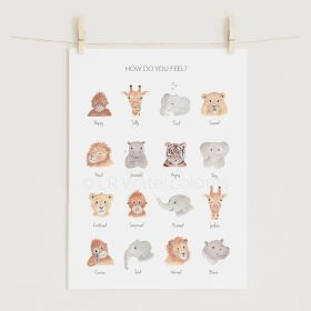 Children's 'Feelings' Print