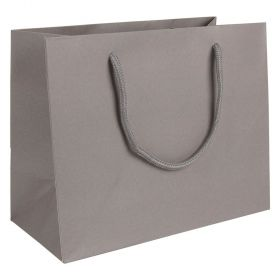Medium Landscape Paper Gift Bag | Rope Handles  Grey
