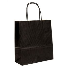 Small Paper Gift Bag | Twisted Handles  Black