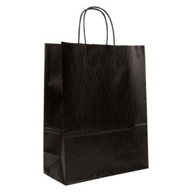 Medium Paper Gift Bag | Twisted Handles  Black