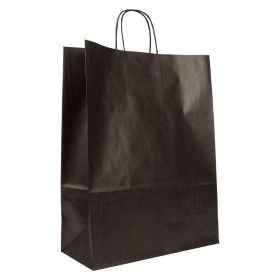 Larger Paper Gift Bag | Twisted Handles  Black