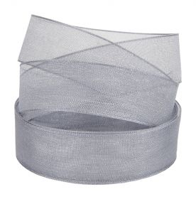 Grey Sheer Ribbon