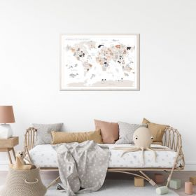 Children's World Map Print