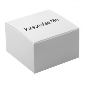 White Flat Packed One-Piece Medium Square Gift Box