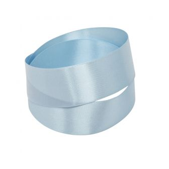 Baby Blue Recycled Bottle Satin Ribbon
