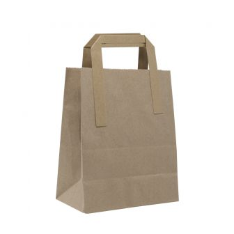 Small Kraft Take Away Paper Gift Bag with Tape Handles