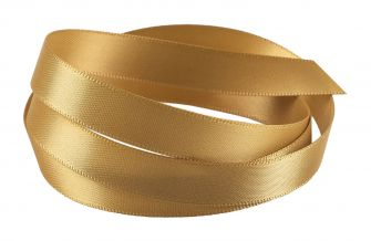 Reel Of Double-Faced Satin Ribbon  Gold