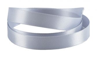 Reel Of Double-Faced Satin Ribbon  Grey