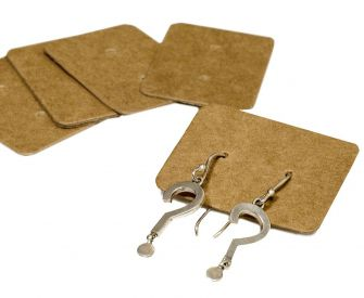 Kraft Earring Holders | Pack Of 100  Kraft