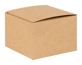 Basics Range Flat packed Gift Box  Kraft
