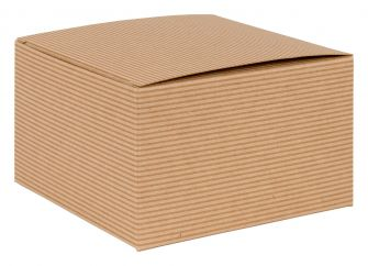 1 Piece Square Gift Box | Flat packed Multi-Purpose Box  Kraft