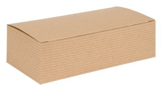 Larger Flat packed 1 Piece Gift Box  Kraft