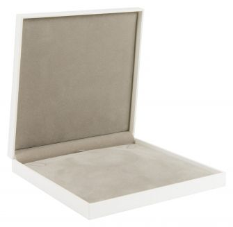 Deluxe Choker Box | Hinged Jewellery Box  White