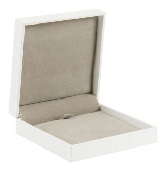 Deluxe Small / Medium Hinged Jewellery Box  White