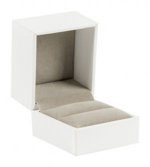 Deluxe Ring Box | Small Hinged Jewellery Box  White