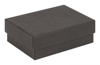 Small / Medium Kraft Recycled Jewellery Box  Black