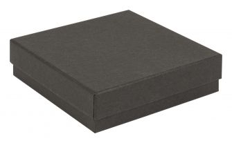 Kraft Recycled Gift Box | Square Jewellery Box  Black