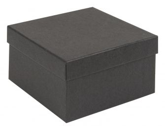 Kraft Recycled Gift Box | Deeper Square Jewellery Box  Black