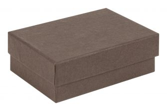Small / Medium Kraft Recycled Jewellery Box  Brown