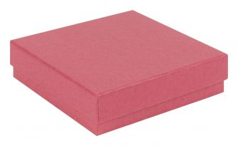 Kraft Recycled Gift Box | Square Jewellery Box  Red