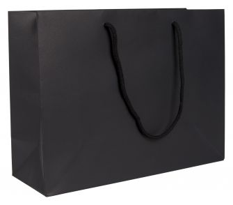 Large Landscape Paper Gift Bag | Rope Handles  Black