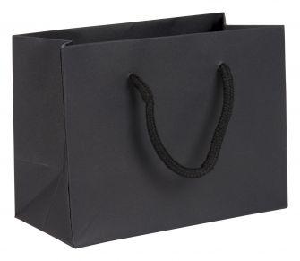 Small Landscape Paper Gift Bag | Rope Handles  Black