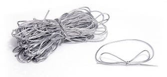Silver Bow Stretch Loops - Pack Of 50  Silver