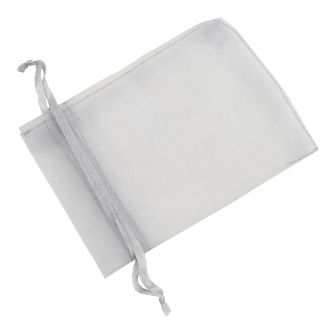 Medium Organza Pouch | Ribbon Drawstring  Grey