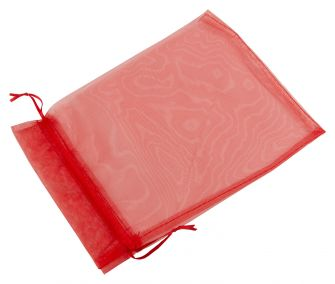 Extra large Organza Pouch | Ribbon Drawstring  Red