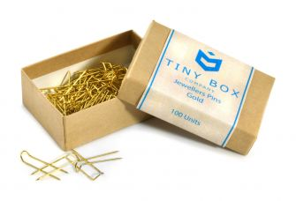 Jewellers Pins - 100 Pack  Gold