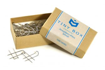 Jewellers Pins - 100 Pack  Silver