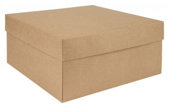 Kraft Hat Box Flat Packed