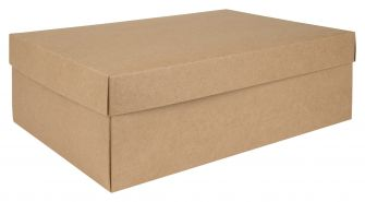 Kraft Shoe Box Flat Packed