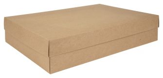 Kraft Shirt Box Flat Packed