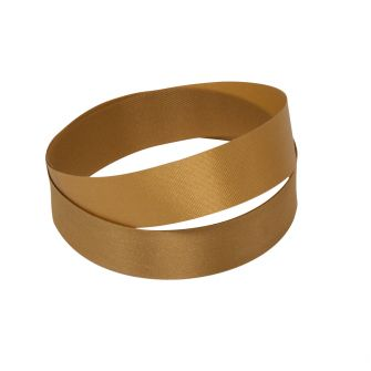 Reel of dark gold wood pulp ribbon, 15mm