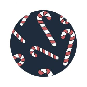 Christmas Label/Tag - Candy Canes