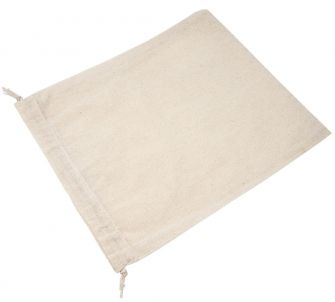 Medium Natural Cotton fabric pouch with cord drawstring - Pack of 12