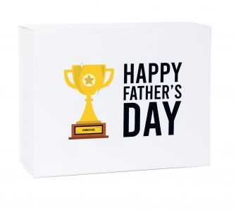 Father's Day Number One Deep White Laminated Magnetic Gift Box