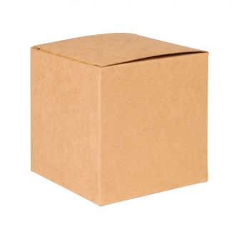 Basics Kraft Natural Flat Packed Candle Gift Box 85mm
