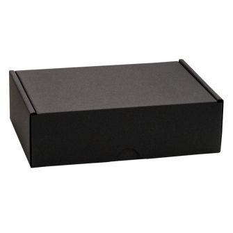 Black 1-Piece A6 Postal Box | Black