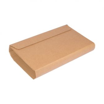 kraft corrugated cardboard wrap mailer with perforated tab opening and strong self adhesive seal