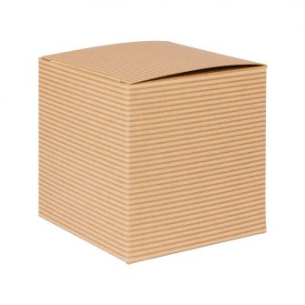 Brown Kraft Recycled Candle Flat Packed Gift Box