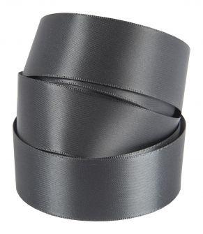 Dark Grey Satin Ribbon