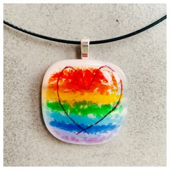 Rainbow Heart Necklace