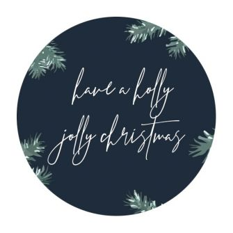 Christmas Label/Tag - Holly Jolly
