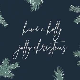 Christmas Label, Tag, sticker - Holly Jolly