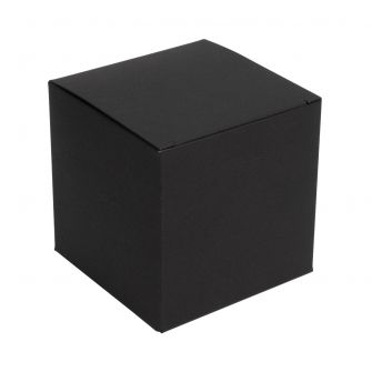 One piece black flatpack candle box